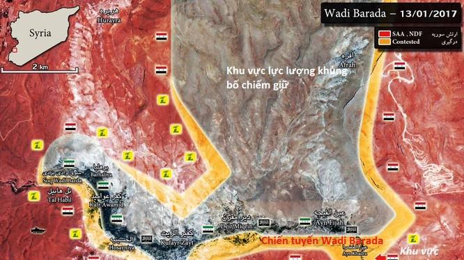 Toàn cảnh bản đồ chiến sự khu vực ngoại ô Damascus