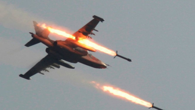Máy bay cường kích chiến trường Su-25 không kích ở Syria (ảnh minh họa)