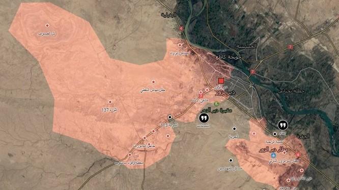 Bản đồ chiến sự Deir ezZor ngày 16.01.2017