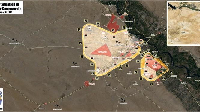 Chiến trường Deir ez Zor sau khi tuyến phòng ngự quân đội Syria sụp đổ