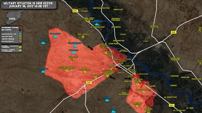 Toàn cảnh tình huống chiến trường thành phố Deir Ezzor
