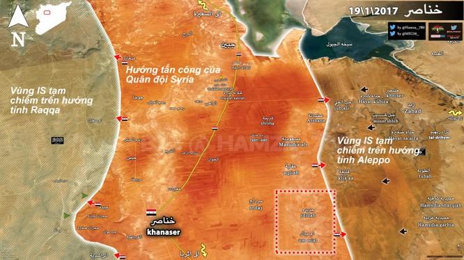 Bản đồ cuộc tấn công của quân đội Syria xuất phát từ Aleppo