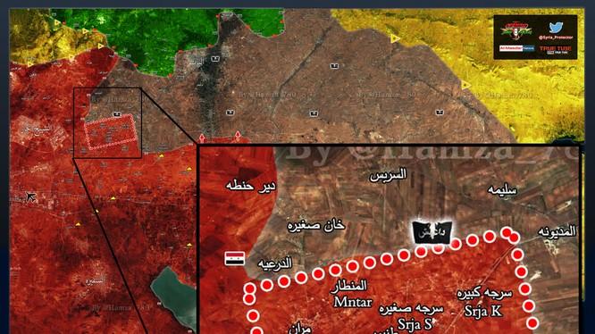 Tính đến ngày 22.01.2017, quân đội Syria đã giải phóng 5 ngôi làng trên hướng đông thành phố Aleppo