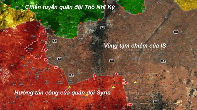 Bản đồ chiến sự phía đông thành phố Aleppo