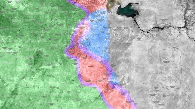 Chiến trường khu vực thị trấn Khanaser, hướng tây thành phố Aleppo