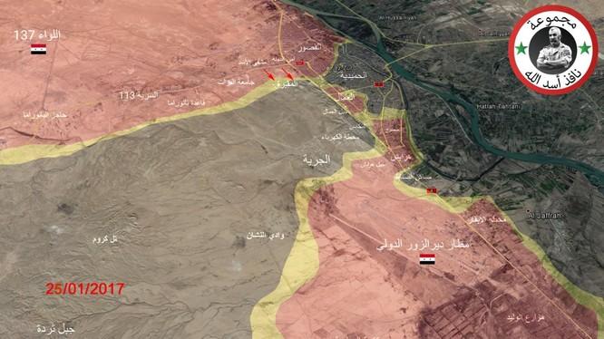 Bản đồ chiến sự thành phố Deir Ezzor
