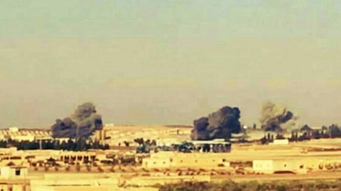 Pháo binh lực lượng Tiger dội lửa vào IS trên chiến trường Aleppo