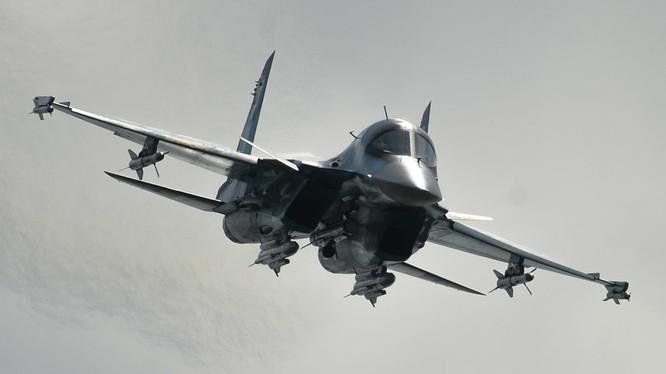 Máy bay ném bom Su-34 Nga không kích ở Syria (ảnh minh họa)