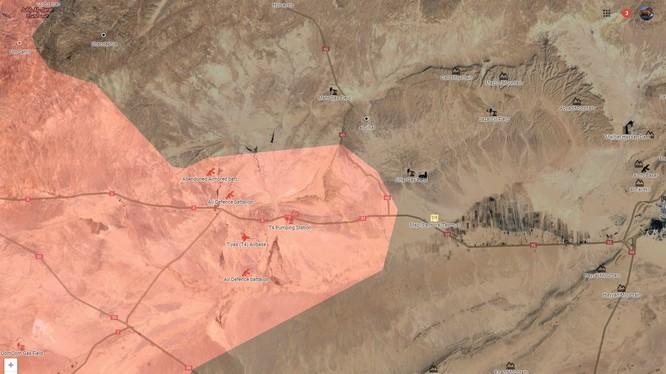 Bản đồ chiến trường Palmyra tính đến ngày 27.01.2017