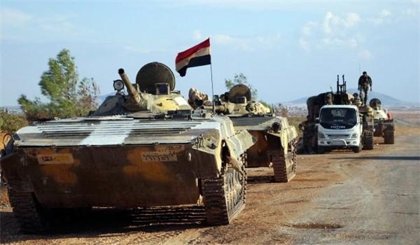 Một đơn vị xe thiết giáp của quân đội Syria