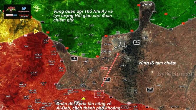 Chiên tuyến phía đông thành phố Aleppo, gần thành phố Al-Bab