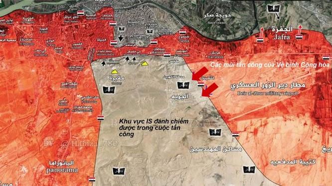 Bản đồ chiến sự thành phố Deir Ezzor ngày 01.02.2017