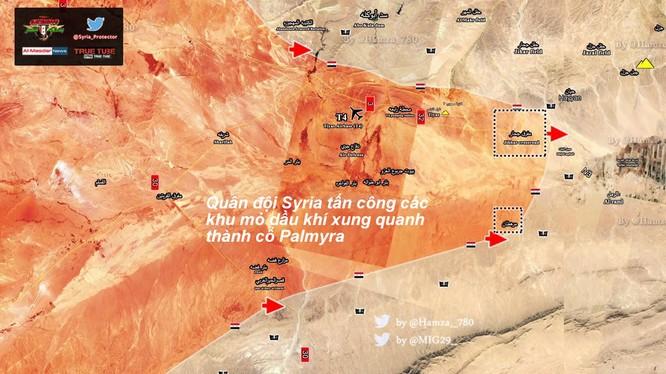 Quân đội Syria tấn công vào các mỏ dầu khí gas trên hướng Palmyra