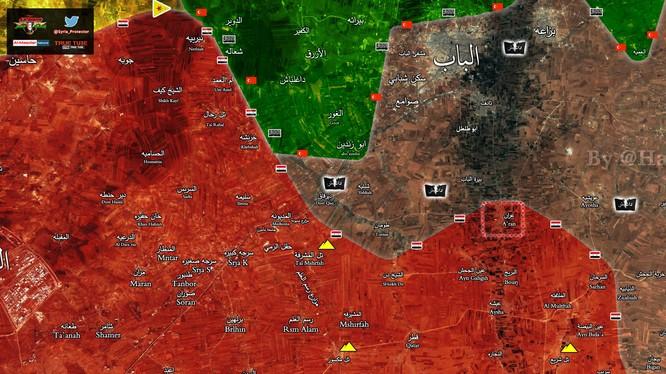 Thị trấn Aran, lá chắn phòng ngự vững chắc của IS cho thành phố Al-Bab được lực lượng Tiger giải phóng