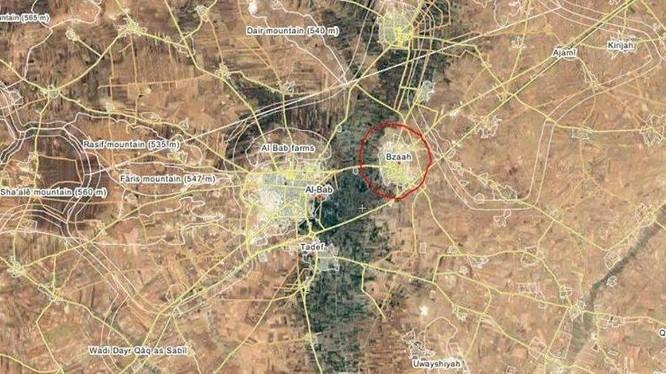 Thị trấn Bazzah, nơi diễn ra cuộc chiến giữa lực lượng Lá chắn Euphrates với IS