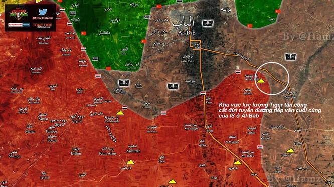 Bản đồ tình hình chiến sự Al-Bab tính đến ngày 05.02.2017