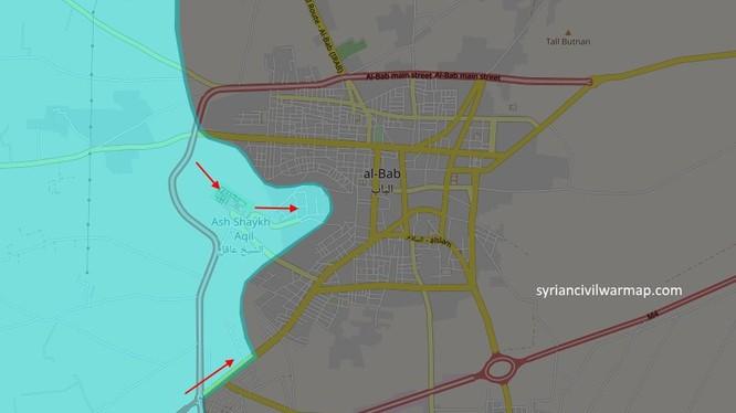 Các mũi tấn công của liên quân Thổ Nhĩ Kỳ - FSA đánh vào Al-Bab