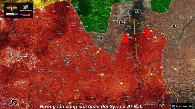 Bản đồ tình hình chiến sự phía đông Aleppo