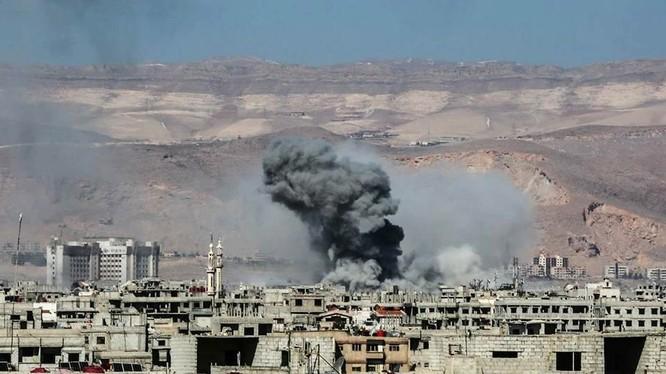 Không quân Syria không kích thị trấn Jobar