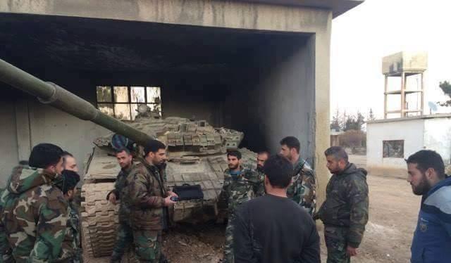 Binh sĩ lữ đoàn 106 Vệ binh Cộng hòa ở Đông Ghouta