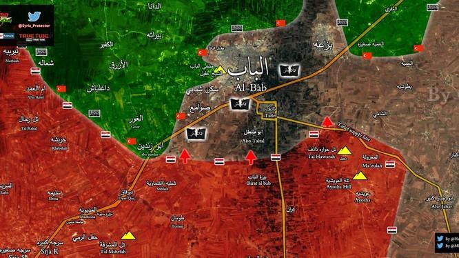 Bản đồ chiến sự thành phố Al-Bab