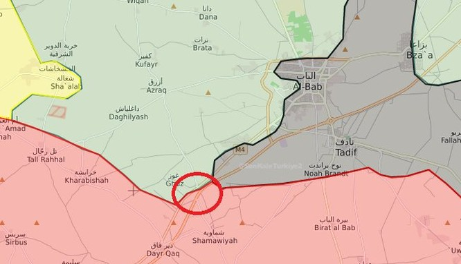 Bản đồ khu vực giao chiên giữa quân đội Syria và lực lượng FSA