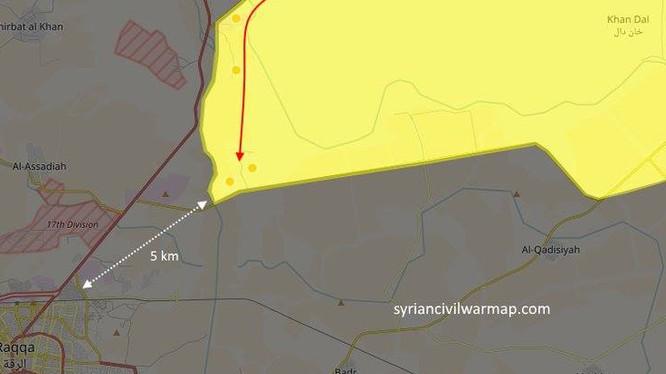 Chiến trường Raqqa, lực lượng SDF cách thành phố khoảng 5 km.