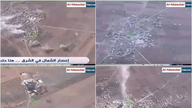 Cảnh quay không quân Nga không kích ngoại ô thành phố Al-Bab