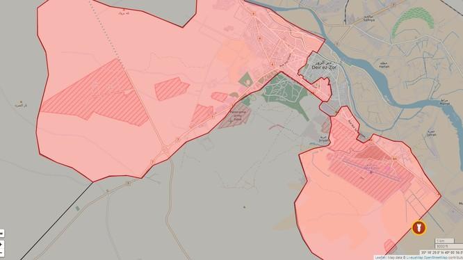 Chiến trường thành phố Deir Ezzor tính đến ngày 15.02.2017
