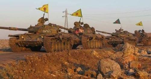 Xe tăng lực lượng dân quân người Kurd YPG trên chiến trường tỉnh Raqqa