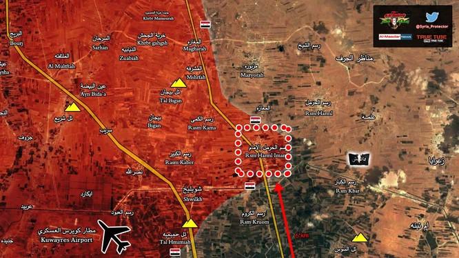 Quân đội Syria giải phóng thị trấn Rasm al-Harmel al-Imam phía đông Aleppo