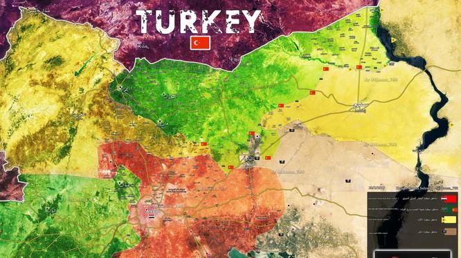 Bản đồ vùng chiến thuật phía đông Aleppo
