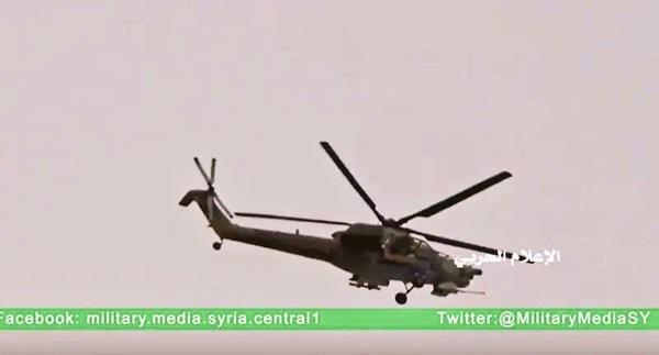 Trực thăng Mi-28 trên chiến trường thành phố cổ Palmyra