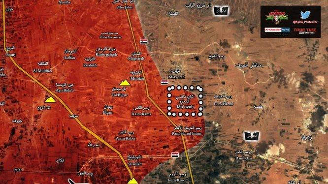 Quân đội Syria giải phóng thị trấn Rasm Harmel al-Imam và làng Ma'azah