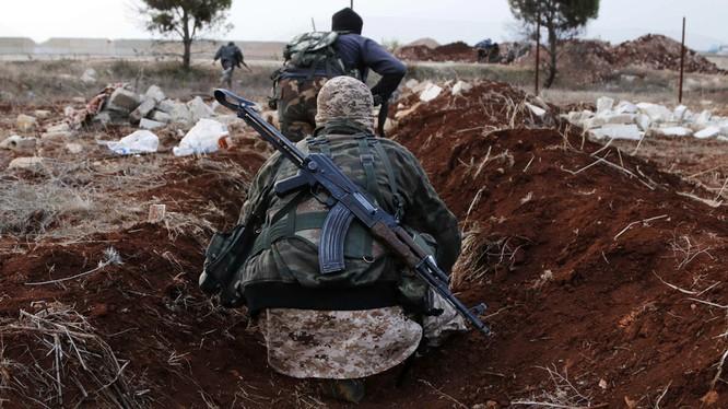 Các tay súng thánh chiến trên chiến trường miền bắc tỉnh Hama