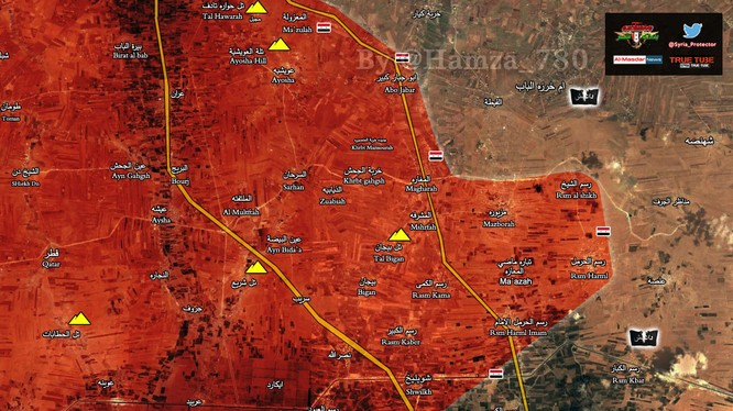 Bản đồ chiến sự vùng đông Aleppo tính đến ngày 23.02.2017