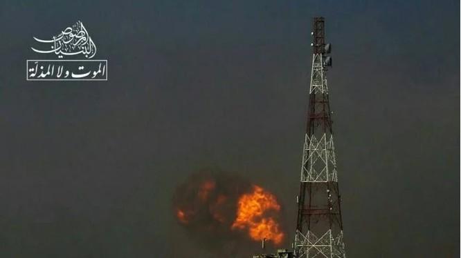 Cảnh vụ đánh bom khủng bố ở thành phố Daraa