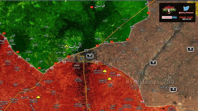 Chiến tuyến giáp ranh giữa quân đội Thổ Nhĩ Kỳ và quân đội Syria phía đông Aleppo
