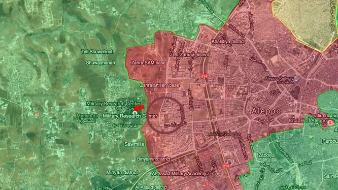 Quân đội Syria tấn công giải phóng Trung tâm Nghiên cứu khoa học quân sự Aleppo
