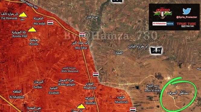 Quân đội Syria giải phóng làng giải phóng làng Munather Al-Jarif trên vùng nông thôn phía đông tỉnh Homs