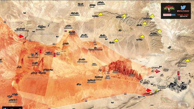 Quân đội Syria triển khai hai mũi tiến công đánh về thành phố cổ Palmyra