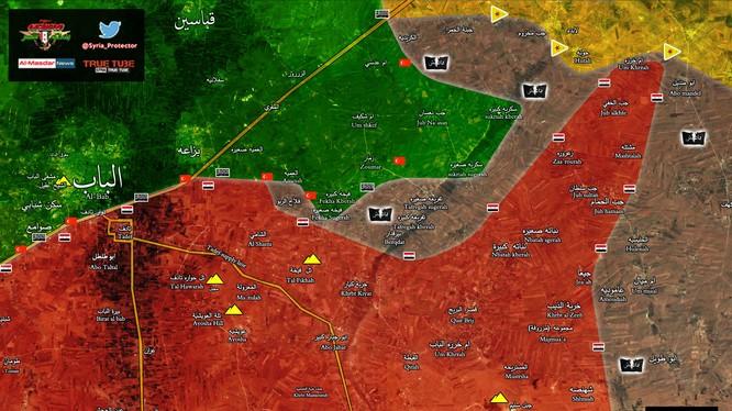 Chiến tuyến khu vực chiến thuật phía đông thành phố Aleppo sáng ngày 27.02.2017