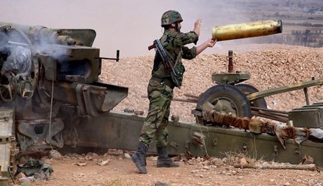 Pháo binh quân đội Syria trên chiến trường Aleppo