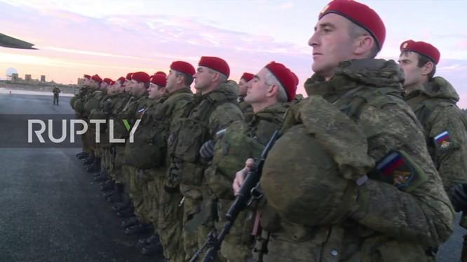 Lực lượng quân cảnh Nga đến Syria thực hiện nhiệm vụ