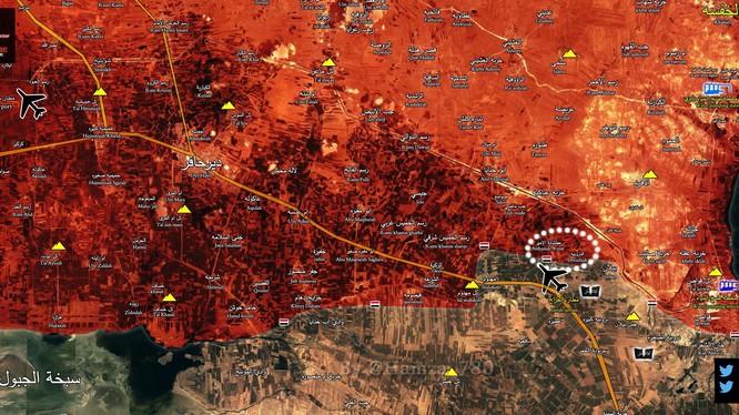 Bản đồ chiến sự vùng nông thôn phía đông Aleppo
