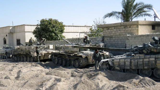 Xe tăng lực lượng Vệ binh Cộng hòa trên chiến trường Đông Ghouta