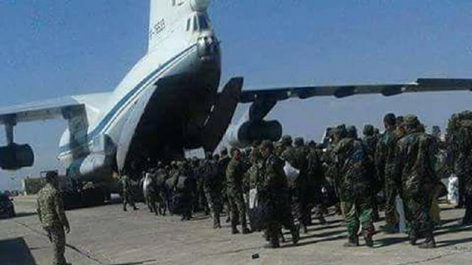 Nga vận chuyển quân đổ bộ xuống chiến trường Deir Ezzor