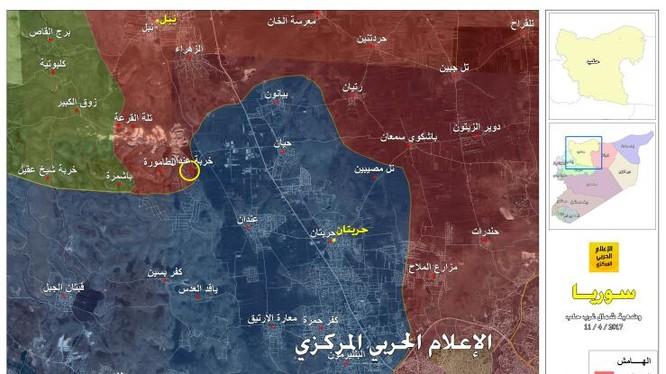 Toàn cảnh khu vực chiến trường phía tây Hama