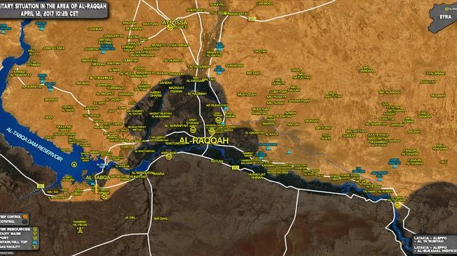 Bản đồ chiến sự tỉnh Raqqa, Syria