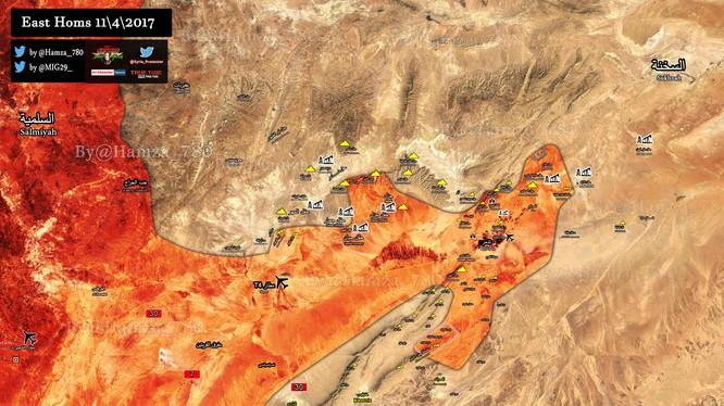 Bản đồ chiến sự chiến trường Palmyra
